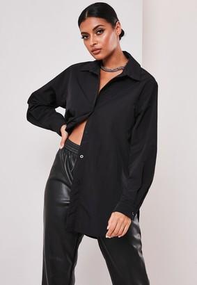 Missguided Sofia Richie X Black Shell Button Shirt