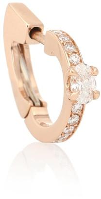 Repossi Harvest 18kt rose-gold and diamond single earring