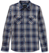 GUESS Long-Sleeve Broadway Plaid Shirt