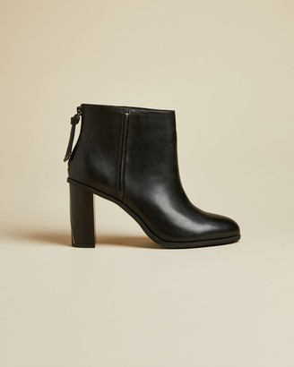 Ted Baker Leather Block Heel Ankle Boots