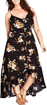 City Chic Aruba Floral Maxi Dress