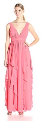Minuet Women's Deep V Long Gown