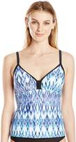 Free Country Women's Heat Adjustable Strap X-Back Tankini