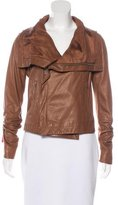 Veda Leather Long Sleeve Jacket
