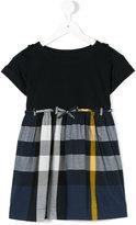 Burberry checked skirt T-shirt dress