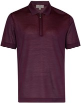 Canali pearled jersey polo shirt