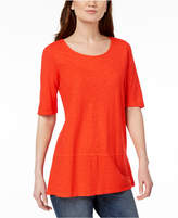 Eileen Fisher Hemp Organic Cotton Elbow-Sleeve Tunic, Created for Macy's
