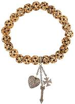 Loree Rodkin carved beads diamond charm bracelet