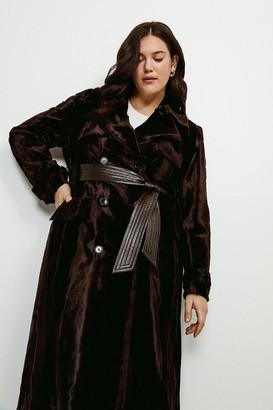 Karen Millen Curve Signature Ponyskin Coat