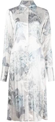 Acne Studios Floral Print Shirt Dress