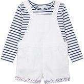 The Little White Company Denim dungarees and top set 1-6 years