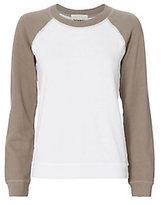 Monrow Two Tone Raglan Sweatshirt
