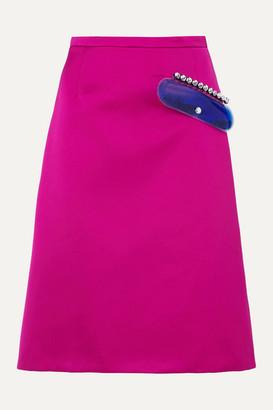 Christopher Kane Embellished Satin Skirt - Pink