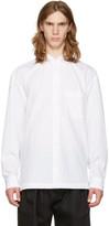 Issey Miyake White Wrinkled Classic Shirt