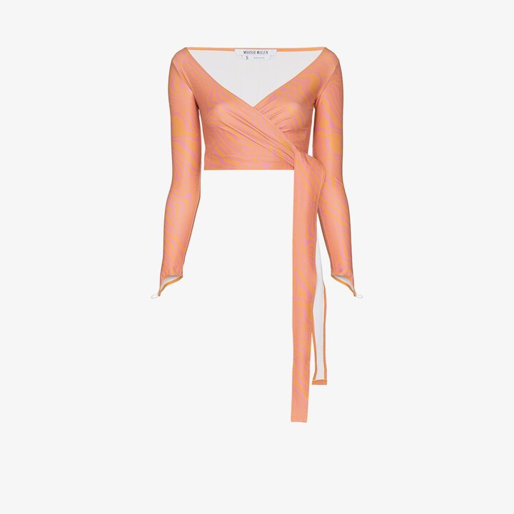 Thumbnail for your product : MAISIE WILEN Orange Graphic Print Wrap Top