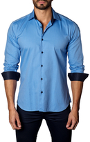 Jared Lang Geometric Cotton Sportshirt