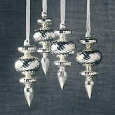 Silver Swirl Ornaments