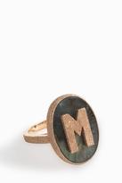 Carolina Bucci 'M' Initial Ring