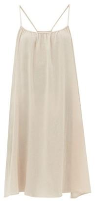 Loup Charmant Scoop Neck Cotton Poplin Slip Dress - Womens - Light Pink