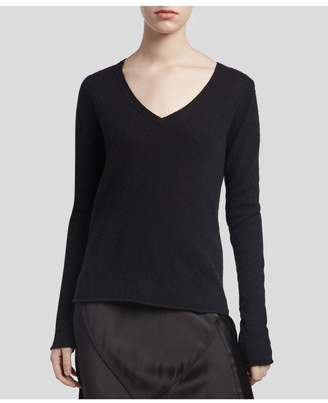 ATM Anthony Thomas Melillo Cashmere V-Neck Sweater - Black