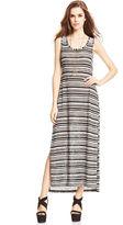 Jessica Simpson Tiffani Striped Knit Maxi Dress