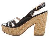 Prada Platform Slingback Sandals