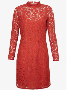 Great Plains Joni Lace Dress - 14 - Red