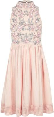 River Island Girls Pink sequin embellished prom dress