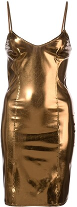 Lisa Marie Fernandez metallic slip dress