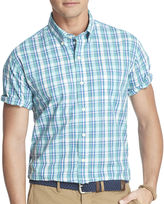 Izod Short-Sleeve Lightweight Plaid Shirt