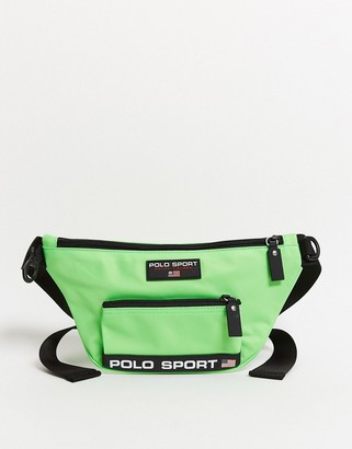 Polo Ralph Lauren Sport bum bag in neon green