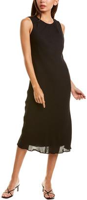 Donna Karan Gathered Neckline Slip Dress