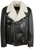 Marc Jacobs Shearling Lined Biker Jacket