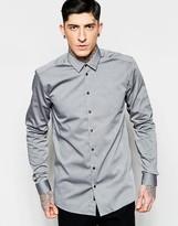 Minimum Smart Shirt In Stretch Slim Fit Grey