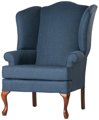 Comfort Pointe Crawford Wingback Chair, Denim Blue, 28x35x42