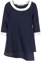 Isolde Roth Plus Size Linen button top