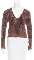John Galliano Crocodile Print Cashmere Sweater