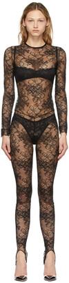 La Perla Black Archives Lace Jumpsuit