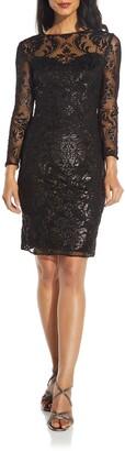 Adrianna Papell Burnout Emblem Dress