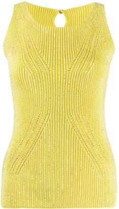 Ermanno Scervino Crystal-Embellished Sleeveless Top