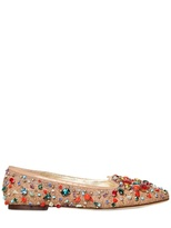 Dolce & Gabbana 10mm Canvas Crystal Beads Loafers