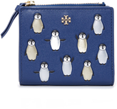 Tory Burch Metallic Penguins Mini Wallet