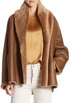 Vince Women's Reversible Shawl Collared Shearling Coat