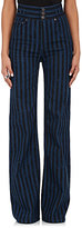 Marc Jacobs Women's Striped Wide-Leg Jeans