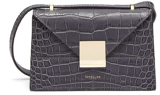 DeMellier 'The Mini Copenhagen' croc embossed leather crossbody bag