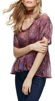 Free People Women's Say You Will Paisley Top