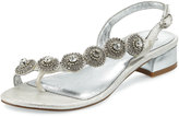 Adrianna Papell Daisy Crystal T-Strap Sandal, Silver