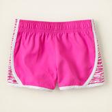 Children's Place Zebra panel active shorts