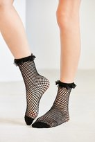 Out From Under Fishnet Ruffle Ankle Sock