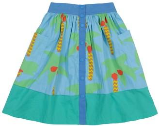 Stella McCartney Kids Printed organic cotton skirt